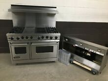 Viking 48  PRO Range VDSC4854GQSS Dual Fuel 4 Burners   Grill   Griddle