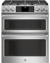 GE Cafe 30  Stainless Steel Double Oven Gas Range BRAND NEW