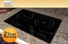 True Induction TI 2B Counter Inset Double Burner Induction Cooktop  120V  Black