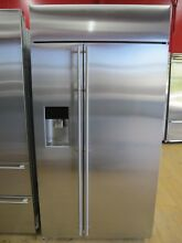 Monogram ZISS420DKSS 42 Inch Built in Side by Side Refrigerator Stainless Steel