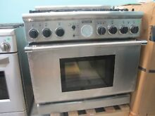 Thermador Pro Grand PD366BS 36 Inch Pro Style Dual Fuel Range with 6 Burners