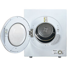 2 6 cu  ft  Compact Electric Dryer Front Loading White Apartment Small RV Dorm