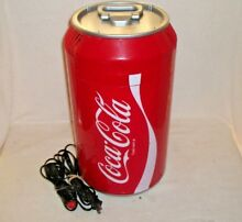Koolatron Coca Cola Can Shaped Mini Fridge Model CC 06 AC   DC Power Supplies