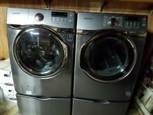 Samsung Sanitizing Washer and Steam Clean Dryer Set Used