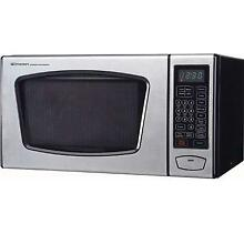 Emerson 0 9 CU  FT  900 Watt Touch Control Microwave Oven  Stainless Steel