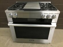Miele 1936G   36  Professional Dual Fuel Range 4 Burners   Griddle Stainless