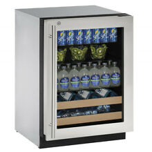 U Line 2000 Series 24  Beverage Center with Door Lock U 2224BEVS 15B