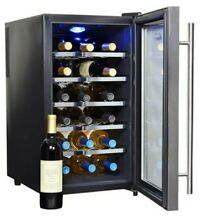 18 Bottle Thermoelectric 5 Wine Rack Cooler Chiller Digital Control Bar Fridge