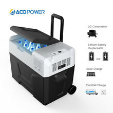 ACOPOWER R40A Portable Solar Fridge Freezer for Car and Outdoor   4 F Freezing