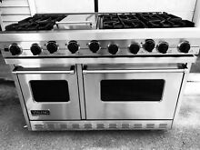 Viking VGSC486 6G 48  Professional 6 Burner Gas Range Stainless Steel Stove