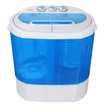 Top Load Compact Twin Tub Wash Machine Blue Body W  Timer 9 9lbs Capacity