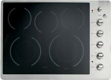 GE CP350STSS Cafe 30  Stainless Steel Electric Smoothtop Cooktop