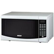 Small Microwave Oven White Countertop Compact Dorm Kitchen RV Low Profile Best