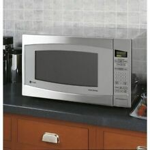 GE Profile Series 2 2 cu ft 1200 Watt Countertop Microwave Stainless Steel NIB