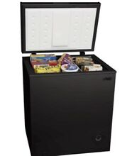 Arctic King 5 0 cu ft Large Chest Freezer Black Compact  Top Load  w  Basket NEW