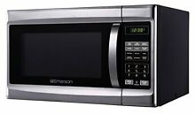 New Emerson MWG1337SB 1 3 CU  FT  1000W Touch Control Stainless Steel Microwave