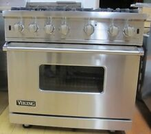 Viking Professional Custom Series  VGCC5366BSS 36 Inch Gas Range