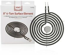 Smart 8 in 6 Turn Surface Burner Replacement heating Element Electric Coil Range