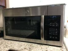 GE 1 6 Cu  Ft  Over the Range Microwave Oven with Recirculating Venting