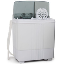 Portable Mini Compact Twin Tub 11lb Washing Machine Washer Spin Spinner