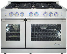 Dacor RNRP48GS NG Renaissance 48  6 Sealed Freestanding Gas Range Stainless