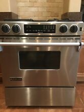 Jenn Air Gas Dual Fuel Range   Used   Perfect Condition   Stainless Downdraft