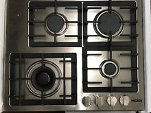 HAIER HCC2430AGS 24  4 BURNGER GAS COOKTOP STAINLESS