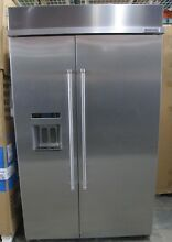 KitchenAid Stainless Steel Built In Side By Side Refrigerator   KBSD608ESS