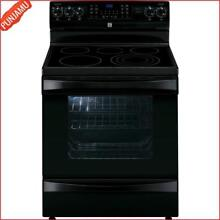 6 1 cu  ft  Electric Range Black Includes Delivery Stainless Steel Freestanding