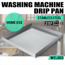 32 x32  Washing Machine Pan Stainless Steel Drip Drain Heavy Duty Home Use