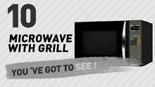 Emerson 1 2 Cu  Ft  1100 Watt Microwave with Grill  Black   11 Microwave Levels
