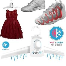 Shoes Dryer Clothes Hanger Travel Wrinkles Eliminate Odor HOT AND COLD Drying
