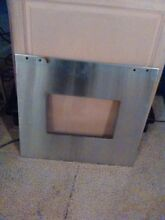 Whirlpool Wall Oven Door Glass and Stainless Panel P N WP8303340 8303312  129 95