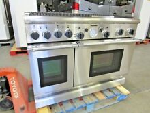 THERMADOR 48  STAINLESS DUEL FUEL RANGE 4 BURNER GRIDDLE GRILL NAT GAS PDR484GG