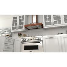 Range Hood Stainless Steel Copper Wall Mount Push Button Convertible Metal Top