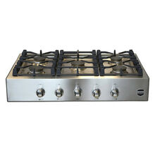 Roma 36  Savona Stainless Steel Natural Gas Rangetop  RT36AG 1 SS