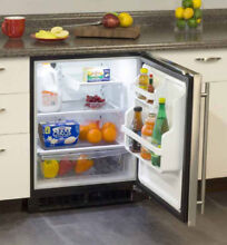 Marvel MA24RAP3RP 24 Inch Built in Refrigerator 2 Cantilever Glass Shelves 1 Cl