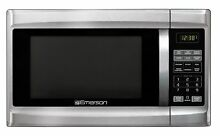Emerson MW1338SB 1 3 Cu  Ft  1000 Watt  Touch Control Microwave Oven  Stainle