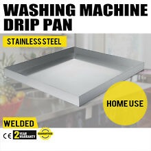 32  x 30  Stainless Washing Machine Drain Pan Well Made Large Size Durable