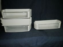 Genuine GE Refrigerator Door Bin Shelf  3  WR71X10973  1  WR71X10605  Set of 4