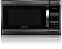 BLACK DECKER Smart Microwave Cooker Compact New 1 3 Cu Ft Black Stainless Steel