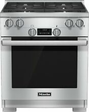 Miele HR1124G 30 Inch Pro Style Gas Range 4 M Pro Dual Stacked Sealed Burners