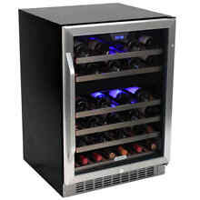 Edgestar   46 Bottle 24  Built In Dual Zone Wine Cooler