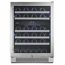 Avallon   46 Bottle 24  Built In or Free Standing Dual Zone Wine Cooler   Lef
