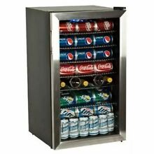 Edgestar   103 Can 5 Bottle Free Standing Beverage Cooler   Reversible Door