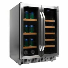 Edgestar   17 Bottle 24  Built In Wine and Beverage Cooler   French Door
