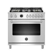 Bertazzoni MAST366DFSXT 36  Freestanding Range w  Electric Self Cleaning Oven