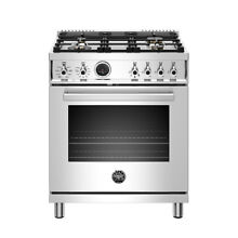 Bertazzoni 30  Freestanding Range w  Electric Self Cleaning Oven  PROF304DFSXT