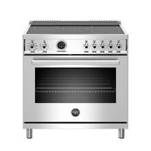 Bertazzoni 36  Freestanding Range w  Electric Self Cleaning Oven  PROF365INSXT