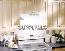24  OVER THE STOVE RANGE HOOD WHITE Exhaust Fan Non Ducted Under Kitchen Cabinet